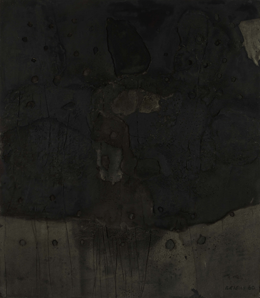 STUART BRISLEY, Black Midnight Noon Relief No8, 1960, Private Collection