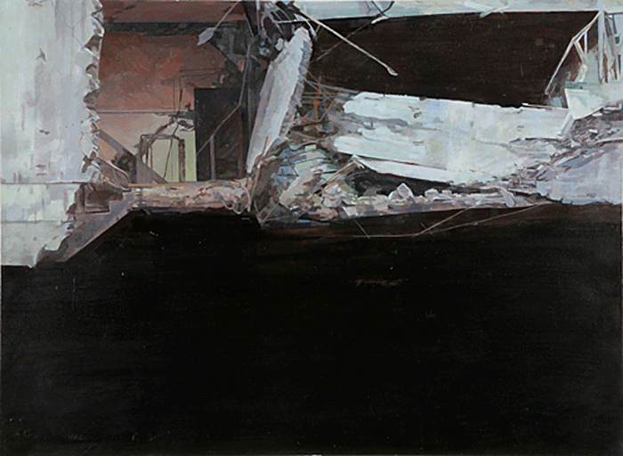 STUART BRISLEY, After Pandemonium (Canary Wharf), 1995-96, Diptych, Private Collection