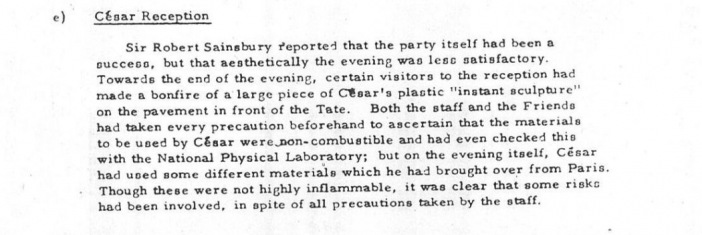STUART BRISLEY, Unofficial Action at Tate, 5 March 1968
