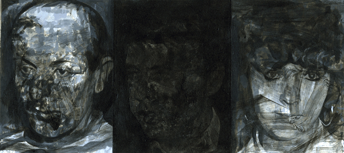 STUART BRISLEY, Members of the IRA in Dirty Disguises: Heads of Sean Hick, Paul Hughes, Donna Maguire, 1994, Collection: The British Museum