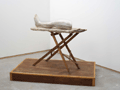 STUART BRISLEY, Louise Bourgeois' Leg, 2002, Performance Object <br />
