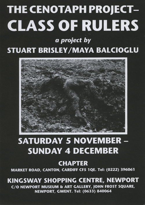 STUART BRISLEY, The Cenotaph Project , November-December 1988